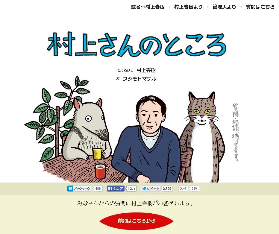 「村上さんのところ」のトップ画面