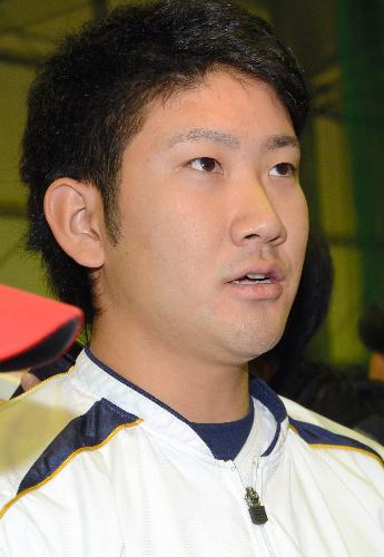 写真:記者会見で思いを語る東海大の菅野智之