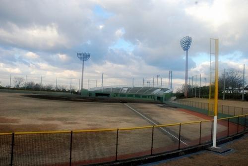 写真:市立総合スポーツ公園野球場。公園内にはテニスコートや陸上競技場もある=富田林市佐備
