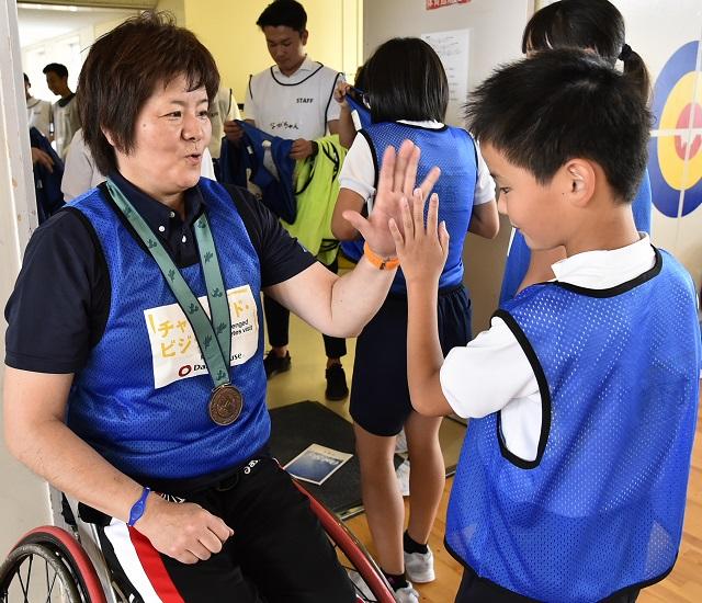 共生社會の実現を、子どもたちとともに」障がい者スポーツ體験授業