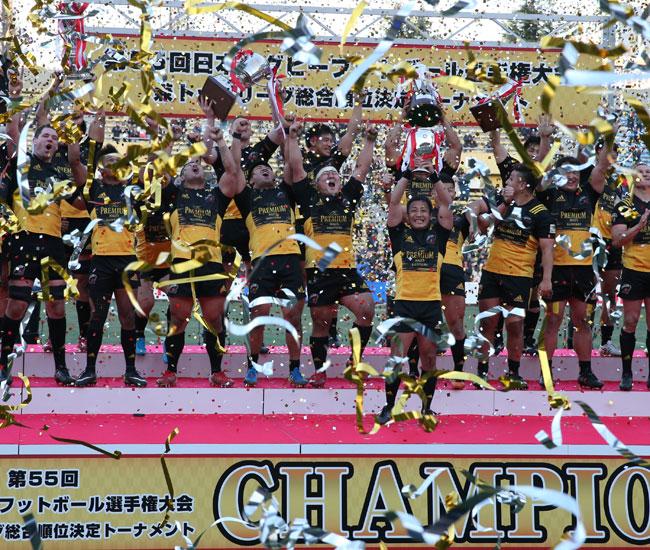 サントリー、年間王者に輝く ジャパンラグビートップリーグ