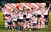 リオ五輪出場を決め、ジャンプして喜ぶ日本代表の選手たち=林敏行撮影