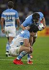 南アフリカに敗れ、悔しがるアルゼンチンの選手たち=ロイター