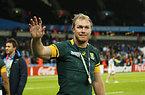 銅メダルを受け取った南アフリカのバーガー=ロイター