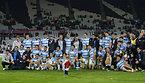 写真撮影をするアルゼンチンの選手たち=ロイター