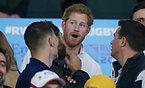 観戦に訪れたヘンリー王子=ロイター
