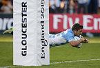 この試合、チーム4つ目となるトライを決めたアルゼンチンのコルデロ=ロイター