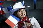 フランスのサポーター=ロイター