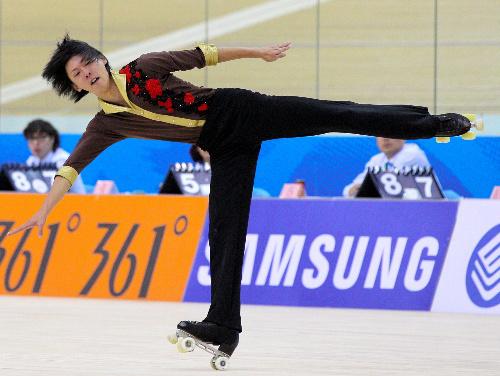 写真:男子フィギュアで優勝した西木紳悟=西畑志朗撮影