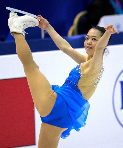 写真:フリーで順位を上げ3位に入った鈴木明子=遠藤啓生撮影