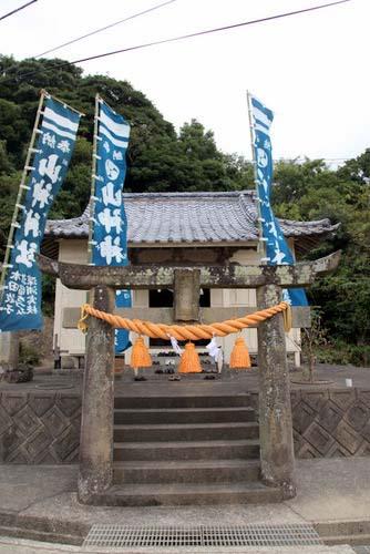 写真:五島列島の山神神社は、カクレキリシタン研究者の宮崎賢太郎・長崎純心大学教授が、著書『カクレキリシタン』で「(全国で)四番目のキリシタン神社」と記す「キリシタンを御神体として祀る」神社だ
