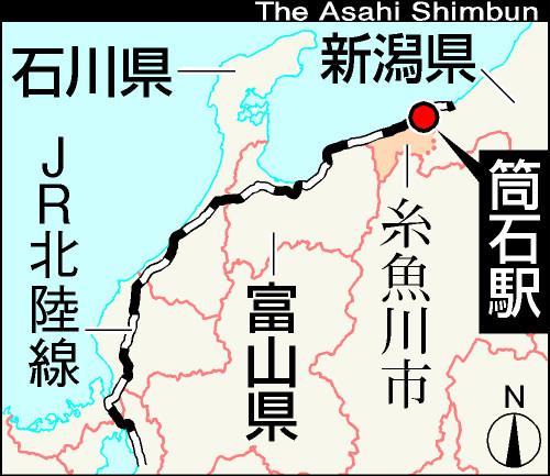 写真:筒石駅(新潟県、JR北陸線)