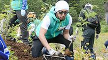 長野)海老蔵さん呼びかけの植林プロジェクト開催