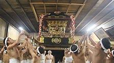 千葉)神輿が天井破る、勇壮な浜の祭り 鵜原八坂神社