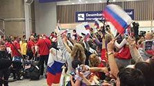 ロシア選手団100人、リオ到着 当初予定より大幅減少