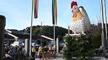 重さ150キロ、「酉」のジャンボ干支奉納 三重の神社