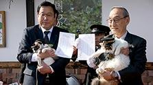三毛猫駅長の部下「よんたま」登場 和歌山電鉄