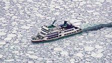 北海道・網走で流氷接岸初日 昨年より20日早く