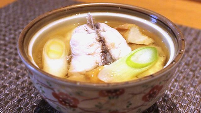 「キンブク」のみそ汁、深い味わい 九州さかな日和。