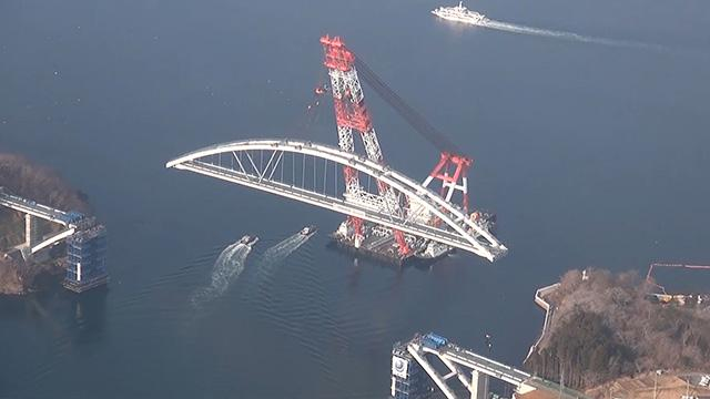 気仙沼・大島が「陸続き」へ 架橋工事で本土とつなぐ