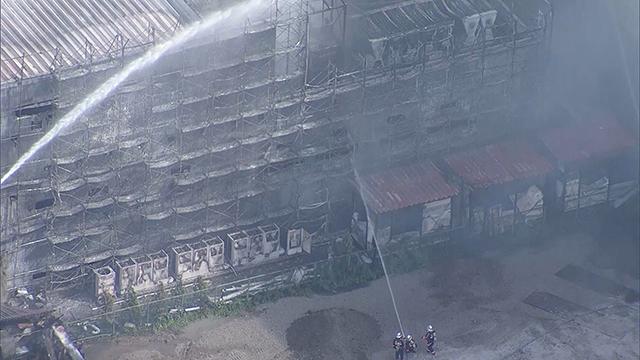船橋の工場で火災、けが人なし「解体作業中に火花」