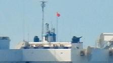 中国造成の人工島に機関砲か ベトナム紙、南沙で撮影