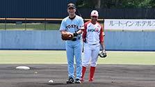 長野)173勝の右腕健在 桑田真澄さんが始球式