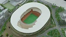 新国立競技場の模型完成…聖火台はまだ リオで展示へ
