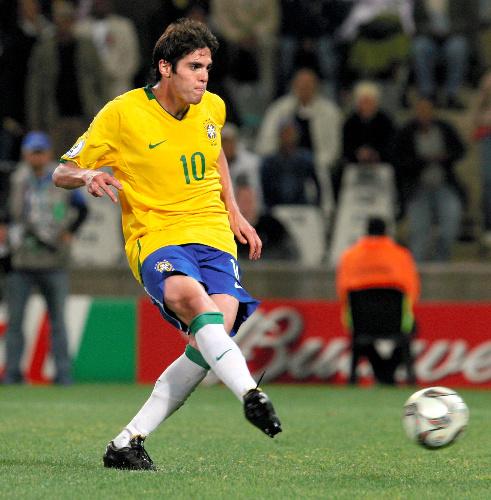 写真:ブラジル代表として活躍するカカ選手=2009年6月、越田省吾撮影