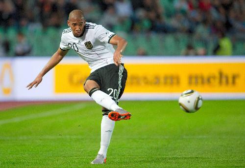 写真:ドイツ代表でプレーする弟のボアテング=AP