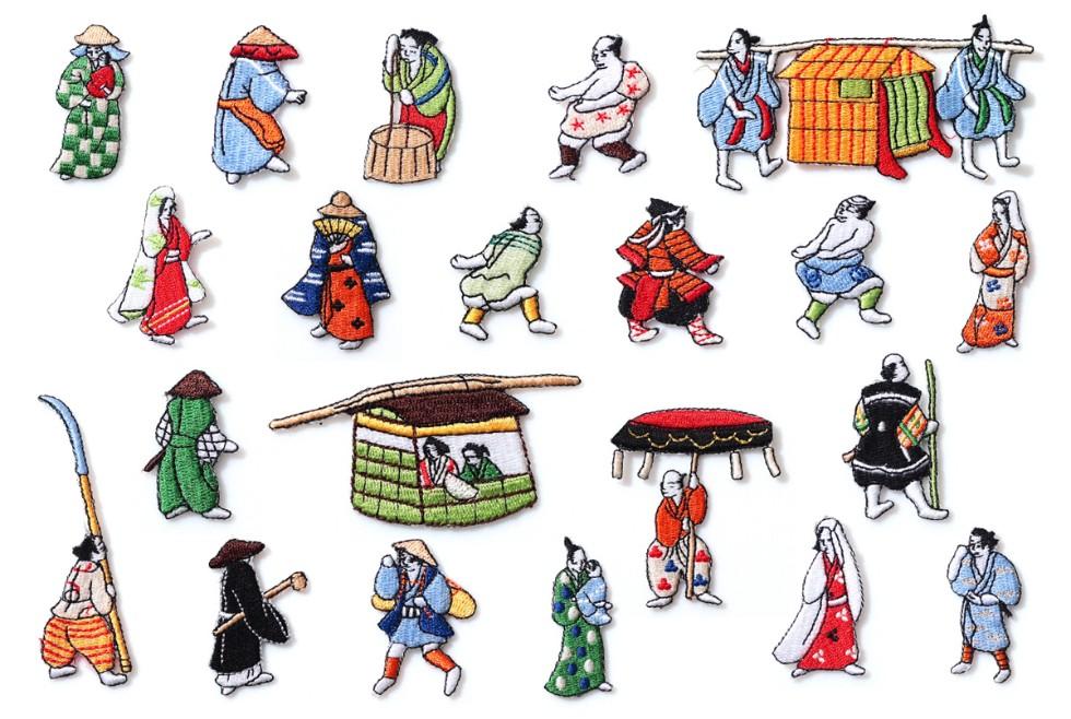 狩野永徳の傑作「上杉本洛中洛外図屏風」がベース<br>日本の伝統文化を現代によみがえらせた和片(ワッペン)