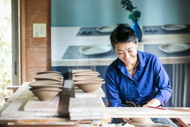 人気陶芸家の中里花子さん