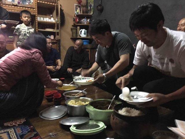 ブータンでの食事