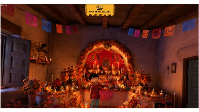 『Coco VR』のオープニング画面©Disney/Pixar