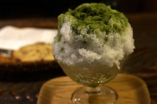 爽やかな味わいの氷宇治