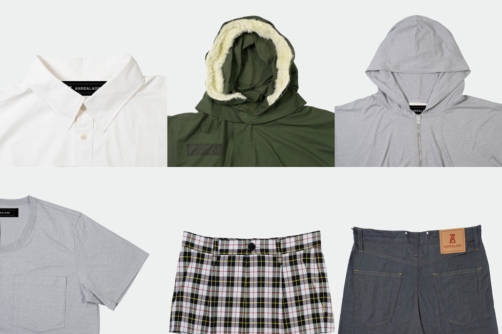 定番アイテムの一部を切り取り巨大化した服 ANREALAGEのコレクション「DETAIL」