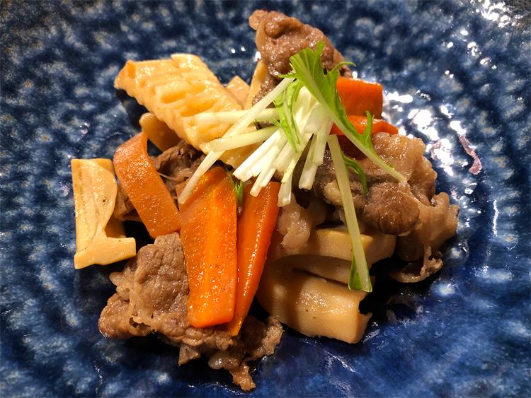 孟宗筍と牛肉の煮物