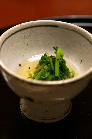 胡麻菜のおひたし