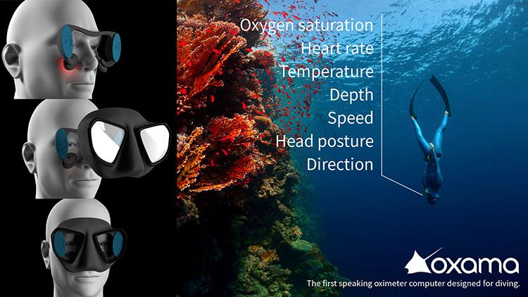 フリーダイバー用の音声式情報伝達デバイス「オクサマ・ダイビング」