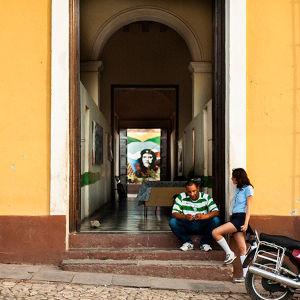 建物に描かれたチェ・ゲバラの肖像画