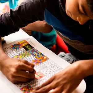 インドの子どもたちが熱中する塗り絵の柄