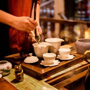 旅の疲れを癒やしてくれる九份の中国茶
