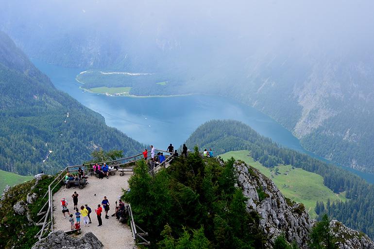 霧が出てきたケーニヒス湖