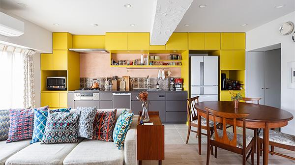 自分らしいインテリアと空間。カラフルで楽しい家
