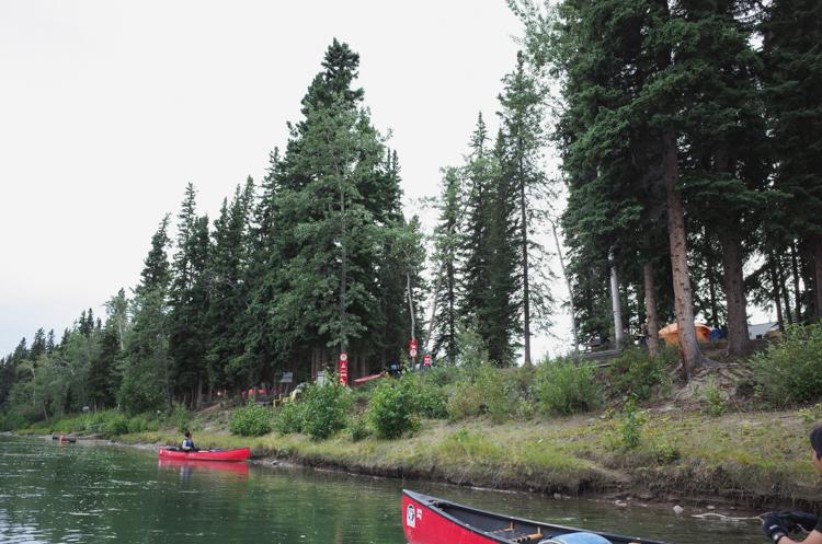 嵐で流木にぶつかる! カヌーでユーコン川下り(3)