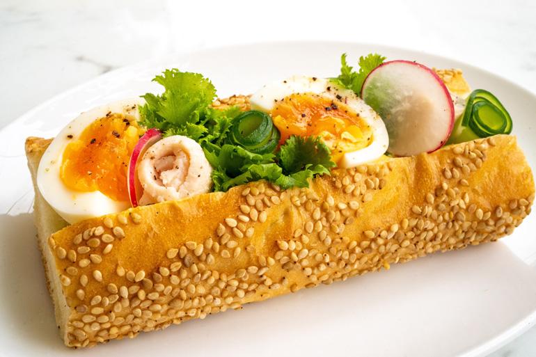 ウッフマヨのサンドイッチ