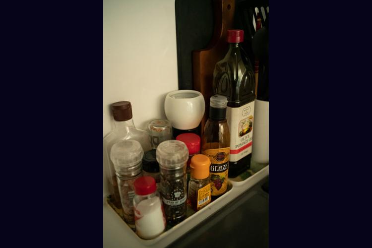 調味料は塩胡椒とオリーブオイル、酢。それ以外は使わない