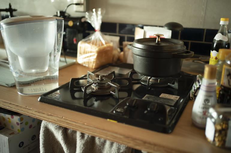 ストウブの鍋は、リモートが増えた去年、炊飯器代わりに購入。早くておいしい
