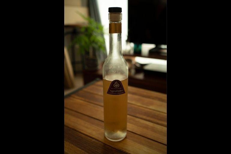 お気に入りのサンテ・ベルトーニのバルサミコ酢。「さっぱりしているのに深みがあって何に使ってもおいしい!」