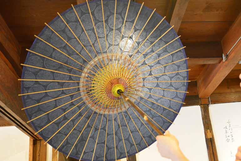 「落水紙」の日傘